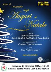 Concerto Natale Spoleto 2018